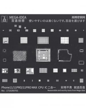 MEGA-IDEA STENCIL PER REBALLING BGA PER APPLE IPHONE 11,11 PRO,11 PRO MAX
