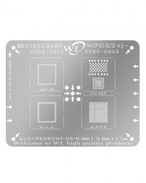 STENCIL REBALLING BGA WL CPU BASEBEND NAND IPHONE 5 5S 5C