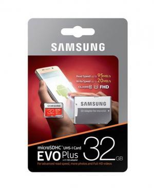 SAMSUNG MEMORYCARD 32GB CLASSE 10 EVO PLUS UHS-I