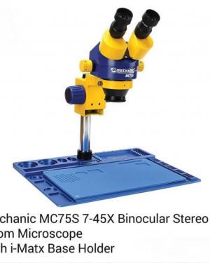 MICROSCOPIO MECCANICO MC75S 7-45X TRINOCULARE ZOOM DX-230 1080P