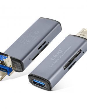 LETTORE DI SCHEDA ALL IN INE OTG INTERFACCIA USB 2.0+IOS